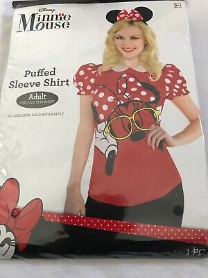 Minnie Mouse Costume Woman (New Disney Minnie Mouse Adult Costume Women's Puffed Shirt Adult One)
