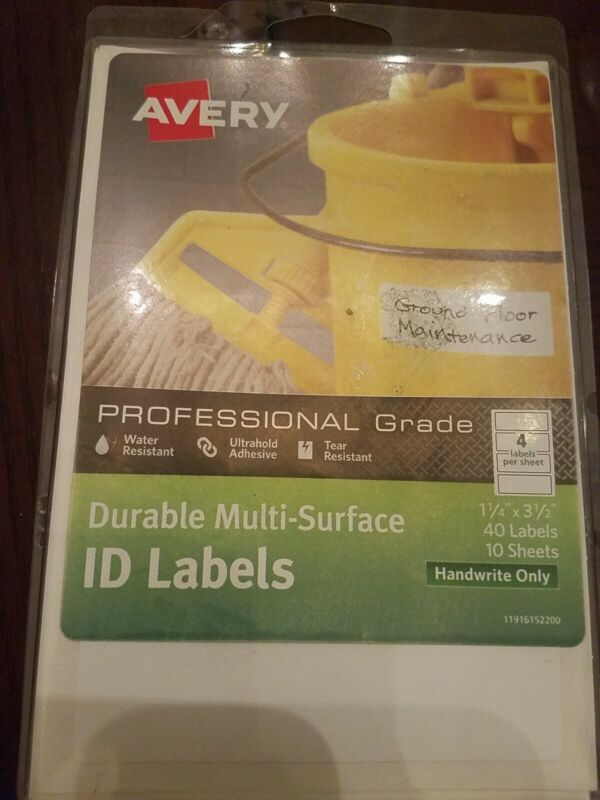 """Avery Duable Multi-Surface ID Labels 1 1/4"""" X 3 1/2"""