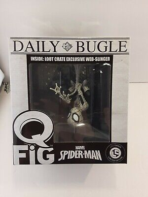 Marvel - Q-Fig - Daily Bugle Spiderman Web Slinger -LOST CRATE EXCLUSIVE