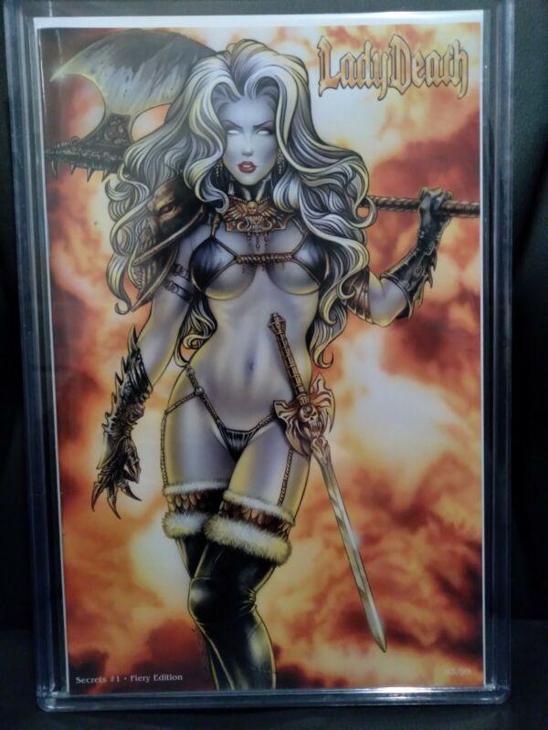Lady Death (Secrets #1) Fiery Edition Monte Moore Cover Ltd 99