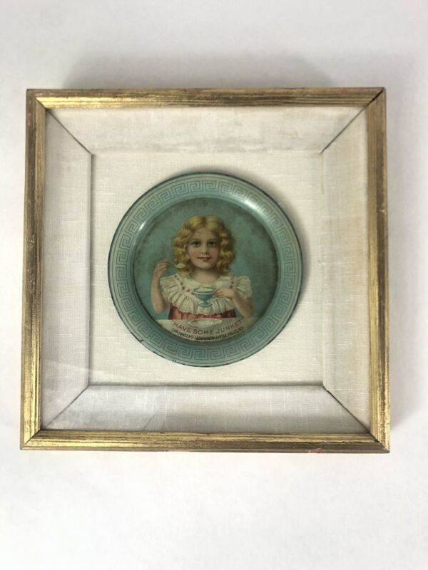Antique Tin Tip Tray- Have Some Junket