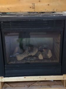 Double-sided propane fireplace