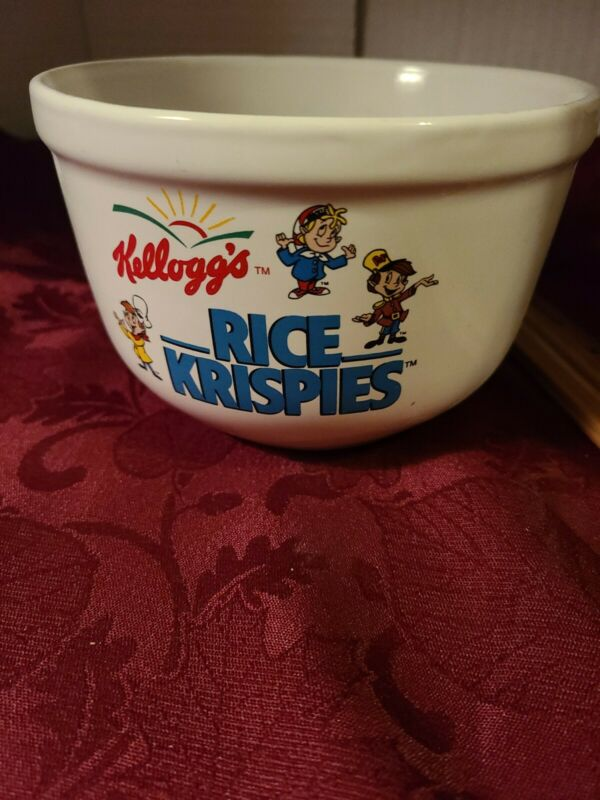 COLLECTIBLE  1999 KELLOGGS  RICE KRISPIES  LARGE CEREAL BOWL  31/2 X 5 IN