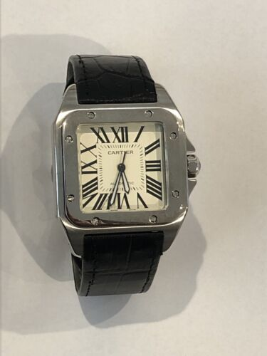 Cartier Santos 100 Automatic Watch Used - watch picture 1