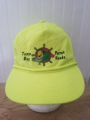 Vintage JIMMY BUFFET Tampa Bay parrot heads hat key west trop rock neon cool A](Parrothead Hat)