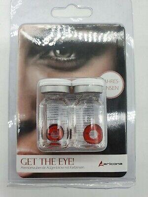 Aricona Farblinsen Schwarz rot Sharingan Naruto Kontaktlinsen farbig EA16