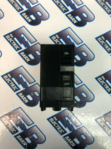 SQUARE D QO260, 60 Amp 240 Volt 2P PLUG IN Circuit Breaker Black- Warranty