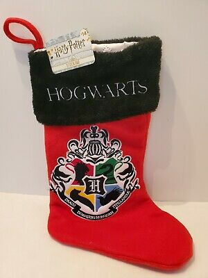 "N3 Christmas 17.5"" Harry Potter Hogwarts Red & Black Stocking NWT"