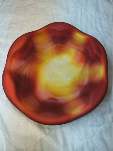 """Imperial Red Satin SLAG 43681 7.5"""" Bowl Pipe ASHTRAY"""