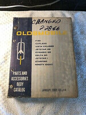 Original 1960's Oldsmobile Parts And Accessories Body Catalog F85 88 98 OEM