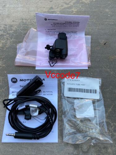 Motorola RLN5312B 2 Wire Surveillance Kit w/Adaptor BDN6676D NEW XTS HT APX