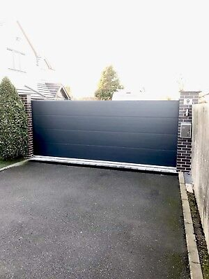 Modern Metal Drive Gates panels - Wooden Gates , Sheds , garden 40mm insulated