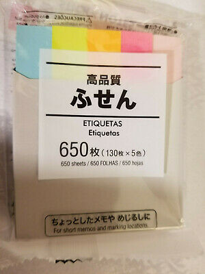 Japanese Asian Sticky Notes Long Strips Tabs Colors