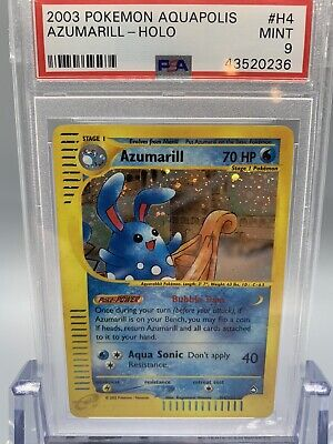 💦 Azumarill Holo - Pokemon Aquapolis Set - PSA 9 - MINT 🌱