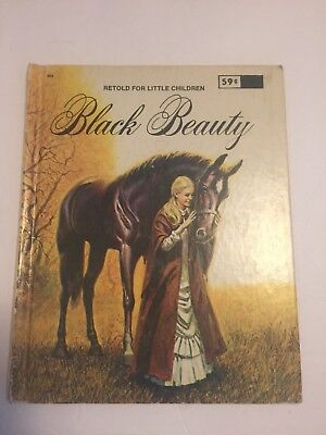 BLACK BEAUTY Retold For Little Children.  WONDER BOOKS Vintage 1976