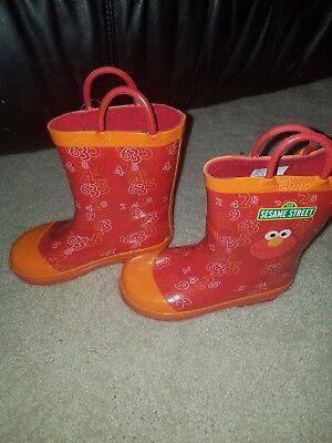 Sesame Street Elmo SEF500 Rain Boots Shoes (Toddler/Little Kid) Size 10](Elmo Kids Shoes)