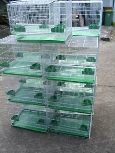 NEW SQUARE BIRD CAGES WHITE- $14 EACH- MED SIZE -READ AD!!