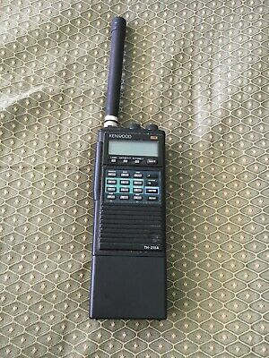 Kenwood TH-215A Handy Talkie -Untested due to no battery charger, Radio Walkie