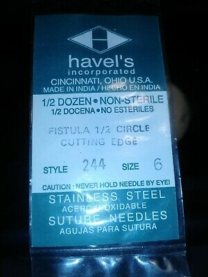 3 Packages-6 Pcs Pack Suture Needles 12 Circle Surgical Instruments