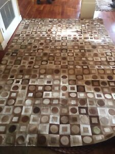 Cow hide leather rug 71 inches by 105inches
