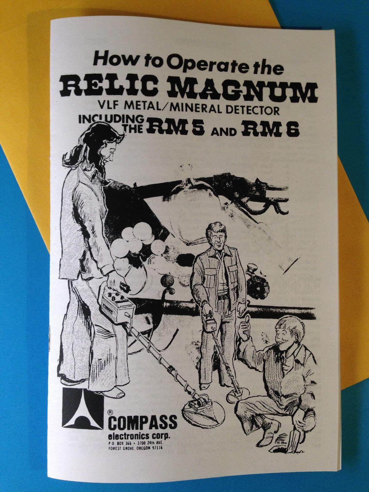 Compass Metal Detector Operation Manual Relic Magnum & RM5 RM6 Get Lost Treasure