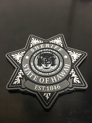 Hawaii Sheriff PVC Morale Patch (grey)