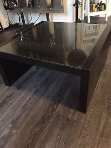 Coffee table with glass top $50.00