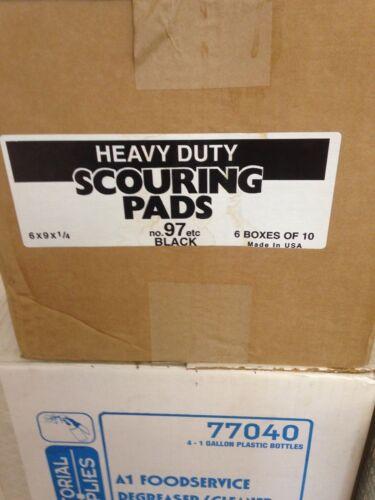 "Heavy Duty Commercial Scouring Pad  No.97. 6"" x 9"" X 1/4  Case of 60 NIB"
