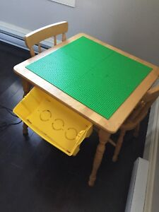 Lego table - with two chairs
