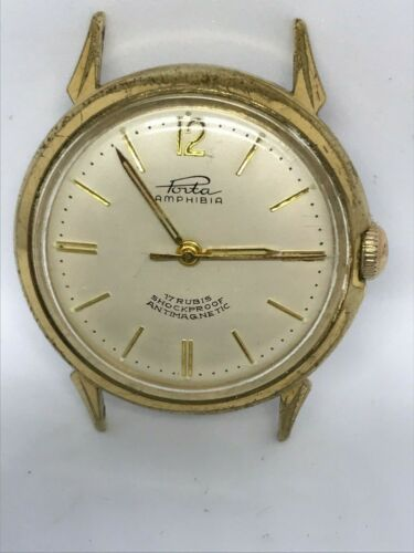 Sammlerstück Herren-Armbanduhr Porta Amphibia, Handaufzug