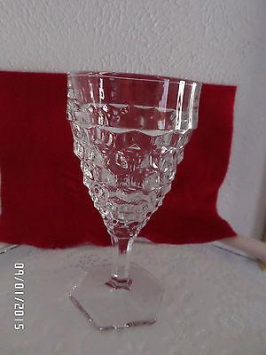 FOSTORIA AMERICAN HEXAGON FOOTED ICE TEA GLASS GOBLET 10 OUNCES 6 7/8 TALL - $11.00