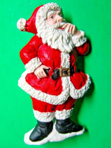 VINTAGE SANTA CLAUS CHRISTMAS HOLIDAY PIN BROOCH (CM150)