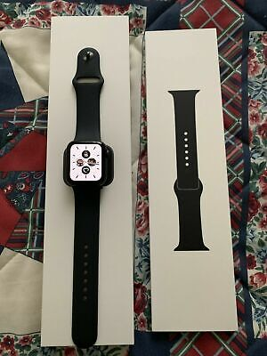 Apple Watch Series 5 40mm Space Gray Aluminium Case with Black Sport Band -...
