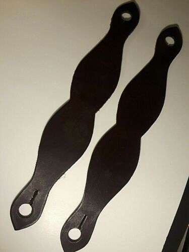 """Equestrian Set """"Slobber Straps/Water Loops"""", Leather, Brown, Pre-Owned, 14"""" Long"""