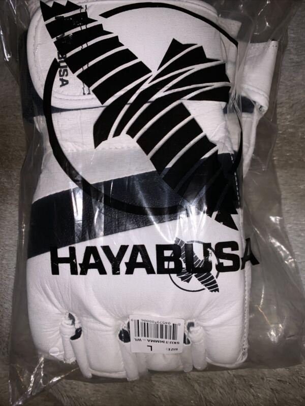 hayabusa fingerless boxing gloves WHITE SIZE LARGE NEW!!