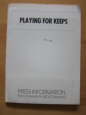 PLAYING FOR KEEPS Press Kit - Marisa Tomei, Bob and Harvey Weinstein