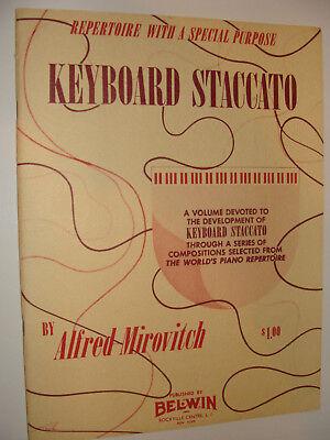 Keyboard Staccato 1954 Alfred Mirovitch Piano