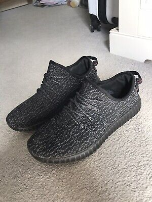 Black Adidas Yeezy Boost Trainers - Size UK 7.5 - Good Condition