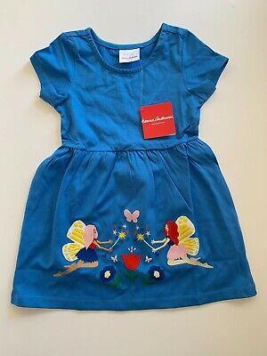 NWT Hanna Andersson Size 100 Blue Appliqué Garden Flower Fairy Art Dress](Fairy Flower Dress)