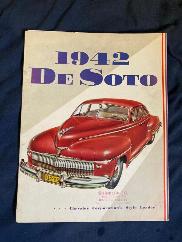 1942 DeSOTO CUSTOM AND DeLUXE FULL LINE  COLOR BROCHURE PROSPEKT