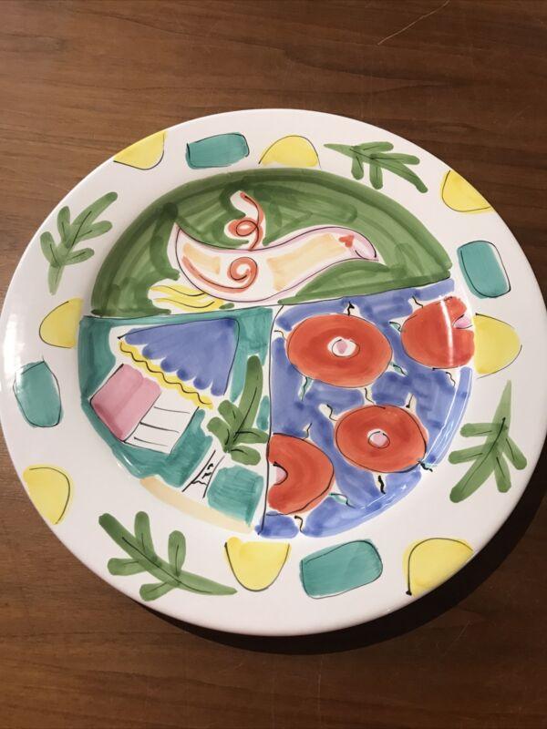 "Present Tense Tickled Pink -  Pair Dinner Plates - 12 1/4"""