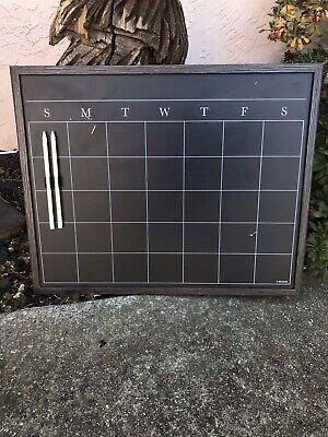 Black Chalk Calendar Board