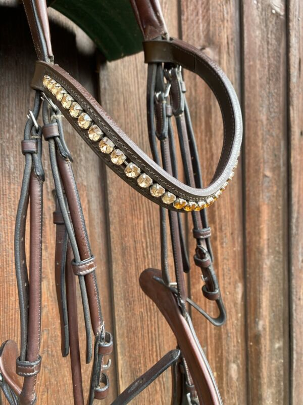 Equipe O/S Dressage Snaffle Bridle w/ Otto Schumacher Crystal Browband