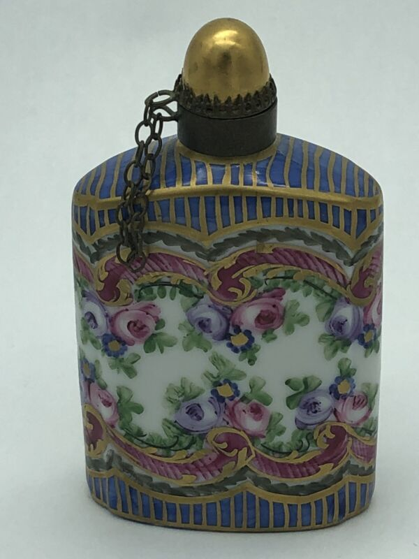 Vintage Limoges Hand Painted Perfume Bottle