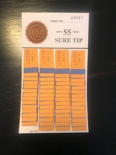 One Dozen #55 Sure Tip Boards (1-55) Bingo/Jar Tickets Free Shipping USA