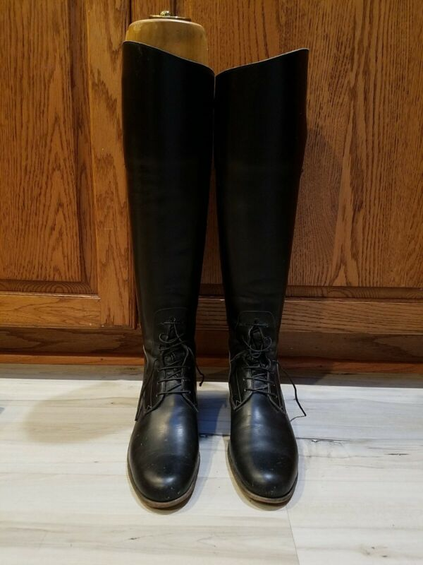 M.J. Knoud Tall Boots With Wooden Boot Trees Keeps Vintage MORE DETAILS ADDED