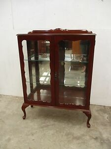 C16015 Vintage Mahogany Queen Anne China Display Cabinet Unley Unley Area Preview