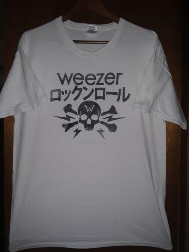 Weezer- Kanji Skull Vintage Lic OOP White T-Shirt- Large