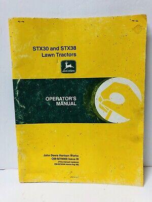 John Deere Stx30 Stx38 Lawn Tractor Operators Manual M79008 - I8 Used