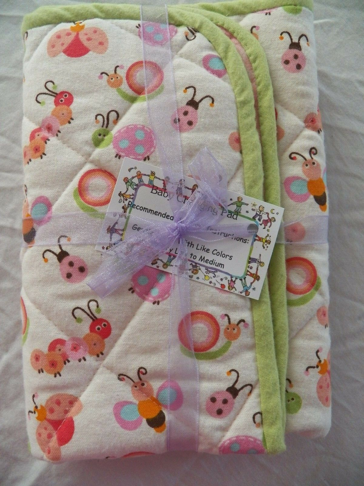 BABY CHANGING PAD Portable Diaper Travel Mat Cotton Washable Padded Handmade NEW 4